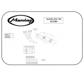 Marving S/3506/NC Suzuki Gsx 750 Katana