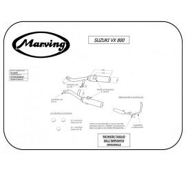Marving S/2125/BC Suzuki Vx 800