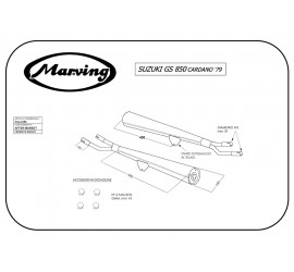 Marving S/2107/BC Suzuki Gs 850 Cardano