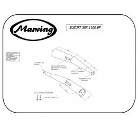 Marving S/2019/NC Suzuki Gsx 1100 Ef