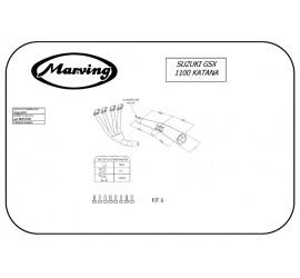 Marving S/3507/NC Suzuki Gsx 1100 Katana