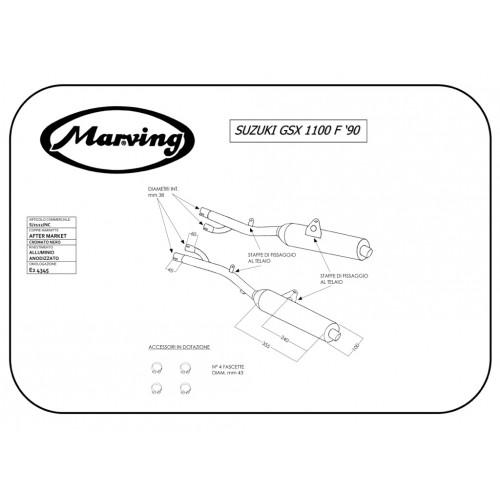 Marving S/2112/NC Suzuki Gsx 1100 F