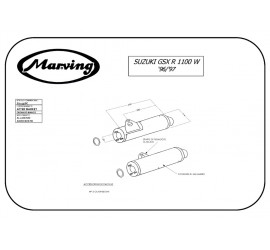 Marving S/2153/BC Suzuki Gsx 1100 R W