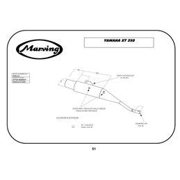 Marving EDR/17/V Yamaha Xt 350