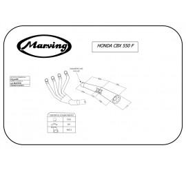 Marving H/3310/BC Honda Cbx 550 F