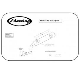 Marving EDR/19/NC Honda Xl 600 Lm