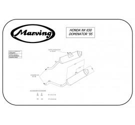 Marving EDR/56/NC Honda Nx 650 Dominator