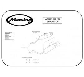 Marving H/AAA/56/BC Honda Nx 650 Dominator