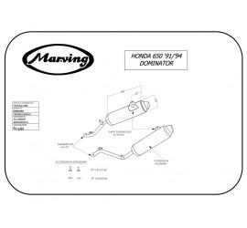 Marving H/AAA/401/BC Honda Nx 650 Dominator