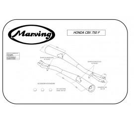 Marving H/2029/NC Honda Cbx 750 F/F II