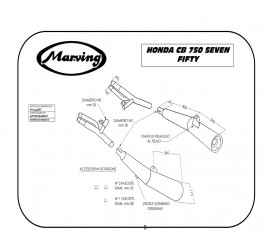 Marving H/2135/BC Honda Cb 750 Seven Fifty