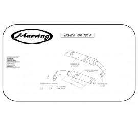Marving H/2094/NC Honda Vfr 750 F