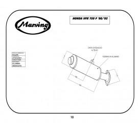 Marving H/2130/NC Honda Vfr 750 F