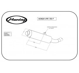 Marving H/2134/BC Honda Vfr 750 F