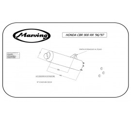 Marving H/2157/NC Honda Cbr 900 Rr