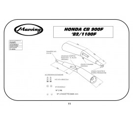 Marving H/2009/NC Honda Cb 900 F 82