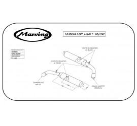 Marving H/2089/NC Honda Cbr 1000 F