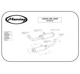 Marving H/2145/NC Honda Cbr 1000 F