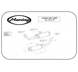 Marving H/2146/NC Honda Cbr 1000 F