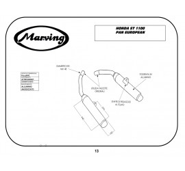 Marving H/2136/NC Honda St 1100 Pan European