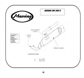 Marving S/AAA/46/BC Suzuki Dr 350
