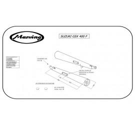 Marving S/2038/BC Suzuki Gsx 400 F