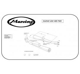 Marving S/2045/NC Suzuki Gsx 400 Fws
