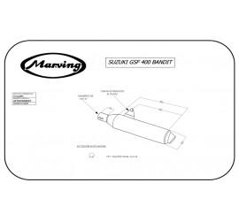 Marving S/2119/NC Suzuki Gsf 400 Bandit