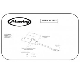 Marving EDR/6/NC Honda Xl 250 S