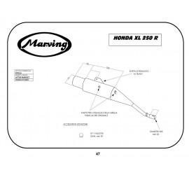 Marving EDR/7/V Honda Xl 250 R