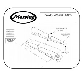 Marving H/125/BC Honda Cb 400 N