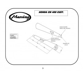 Marving H/2056/BC Honda Cm 400 Custom