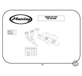 Marving H/3306/BC Honda CB 750 F/F II