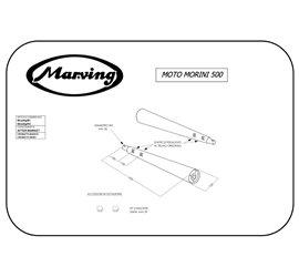 Marving M/2069/BC Moto Morini 500 Sport