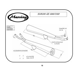 Marving S/2039/BC Suzuki Gs 500