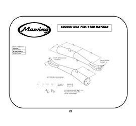 Marving S/2044/NC Suzuki Gsx 1100 Katana