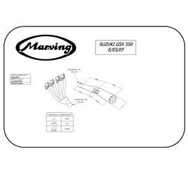 Marving S/3512/NC Suzuki Gsx 550 Ef