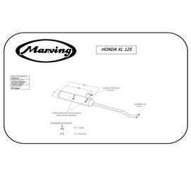 Marving EDR/1/NC Honda Xl / Xls 125 Doppelstoßdämpfer