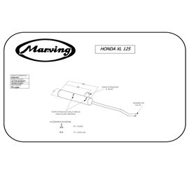 Marving EDR/1/NC Honda Xl / Xls 125 Double Shock Absorber