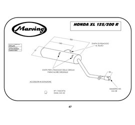 Marving EDR/13/NC Honda Xl 125 R Amortisseur Simple