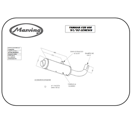 Marving Y/2097/NC Yamaha Fzr 600 Genesis